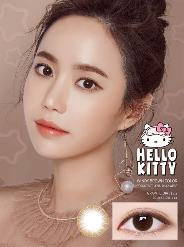 LensMe Hello Kitty Windy Brown Color 13.2mm