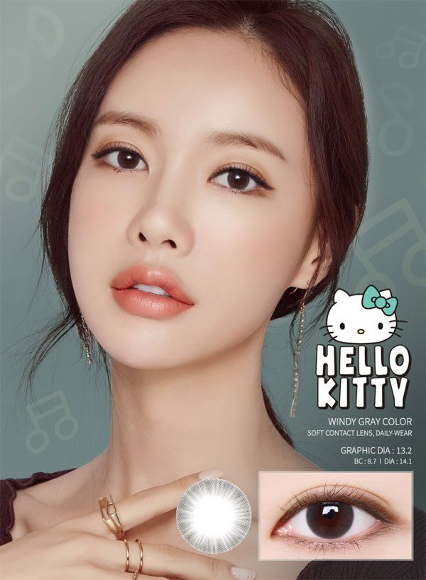 LensMe Hello Kitty Windy Gray Color 13.2mm
