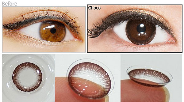 Clear Ring Choco circle lenses