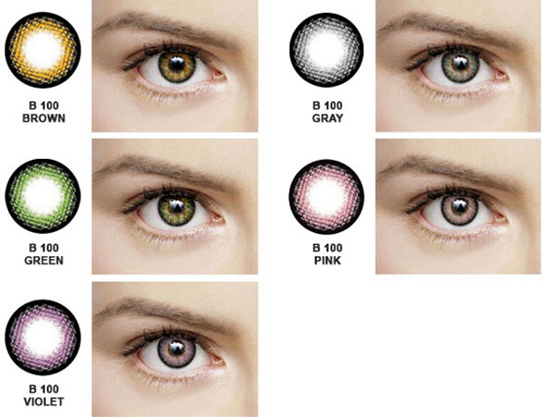 Dueba B100 color contacts