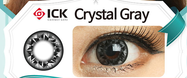 ICK Crystal Gray Toric lens