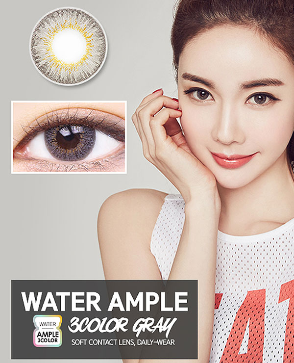 LensMe Color Ample Water Ample 3 Color Gray