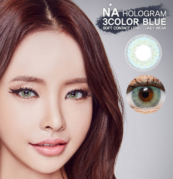 NA HoloGram Blue contacts