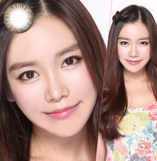 Natural 3 Color Brown color lens
