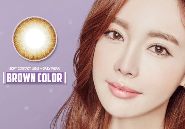 Noble Shine Brown contacts