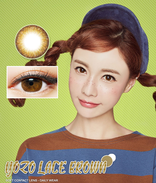 Yozo-Lace-Brown lens