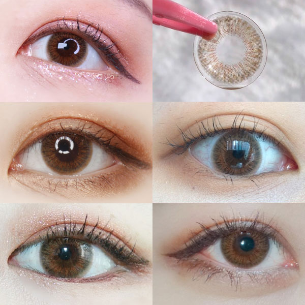 Shine Ample Silling 3Color Brown Silicone Hydrogel 13.5mm