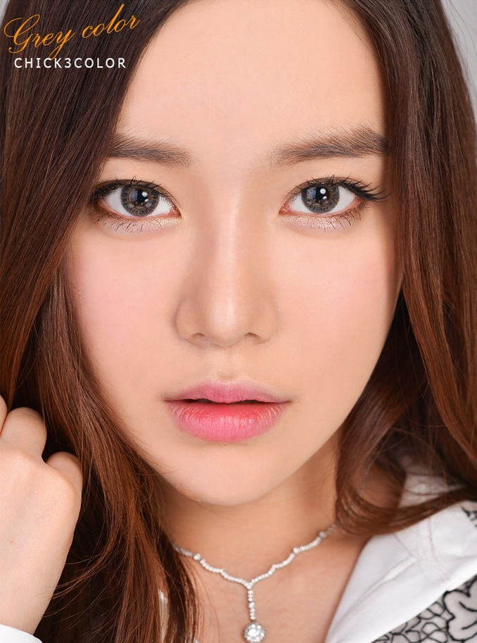 [LensMe Circle Lens] Chick 3 Color Gray 13.8mm