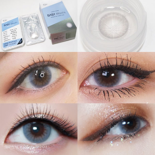 [Lens Me] Louis Shine Baby Mochi Gray 13.1mm