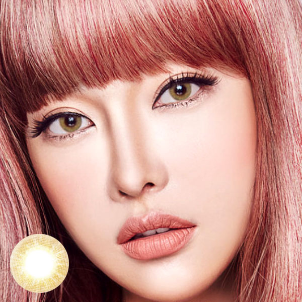 Cream Brown color contact lens