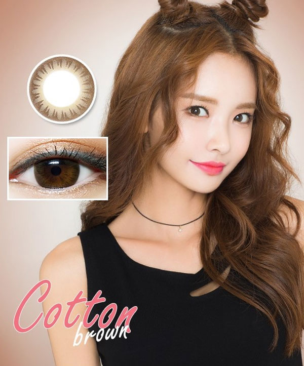 lensme Cotton Brown contacts