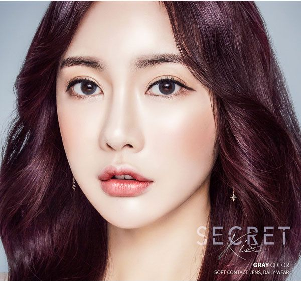 secretkiss gray contact lens